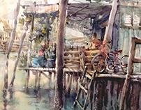 Fisherman village Floating house