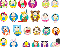 Baby character sticker design