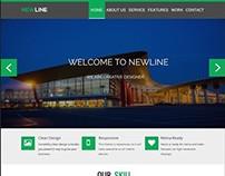 Newline- A psd landing page design.