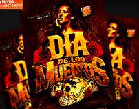 Dia De Los Muertos Flyer Template PSD