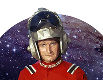 Robin Williams as Mork Low Poly Portrait