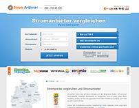 Strom Anbieter - Website