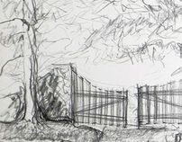 Drawings made a few years ago - Landscapes