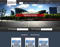 Layout para o site DBM em parceria com MMWEB