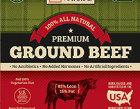 Beef Package Label Design