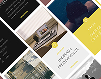 GROSSBERG - Creative Agency Website Grid | UI/UX | App