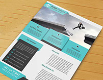 Corporate Flyer PSD Template ( Free Download)