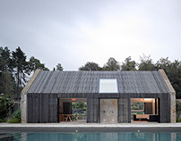Gloucestershire Pool House and Stables. Michaelis Boyd.