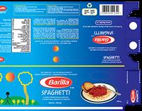 Barilla Spaghetti Box Package Design