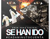 "Poster Obra Teatral ""Se Han Ido"""