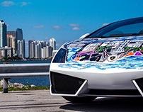 Ocean Drive Edition: Sharpie Lamborghini by J Cabrera