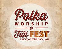 Polka Worship Event Poster