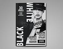 Black & White Magazine Template