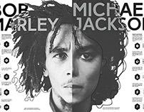 Experimental Poster/Bob Marley&Michael Jackson