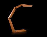 Phalanx LED table lamp