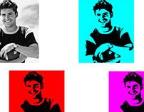 Zac Efron Pop Art