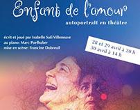 Affiche promotionnelle pour la pièce Enfant de l'amour.