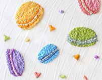 [Macaron] Embroidery Handicraft
