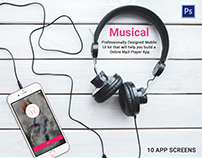 Online Mp3 Player App - Musical