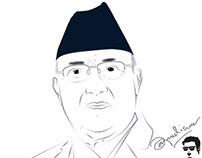 Kp sharma Oli, Former Primeminsiter of Nepal #potrait