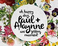 Paul & Alaynne Wedding Invitation Design