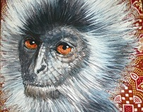 Portrait of Borneo - Painting on canvas