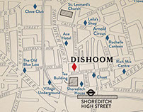 Dishoom Bombay Café location maps