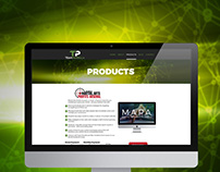 Team Parrella Products Page Concept