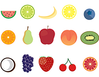15 Free Fruit Icons (Ai + PNG + SVG)