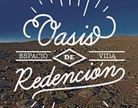 "Lettering Poster - ""Oasis de Vida"" - ANTOFAGASTA Chile"