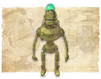Brass Bot - Character Design for Book in Progress