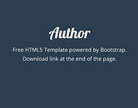 Author - HTML5 Template
