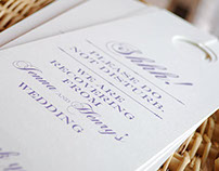 Formal Hotel Gift Bag Door Hangers - Printable Template