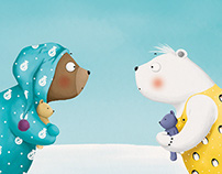 Hrkalo i Drijemalo/Snorybear & Dreamybear, picture book