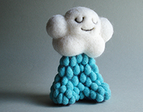 """Mr. Rainy Cloud"" needle felted Art Toy"