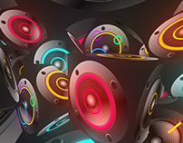 Colorful Music Speakers VJ Pack