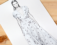 Valentino Spring 2015 runway illustration