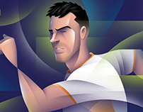 Brazil sports illustrations