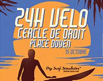 Poster : 24h vélo - Cercle de Droit LLN