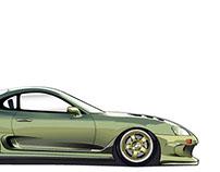 Toyota Supra Vector Rendering