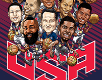 Team USA Basketball art