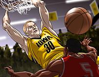 Iowa Hawkeyes Sports Art