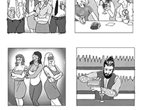 'Bacardi Creatures' Storyboards and Stills