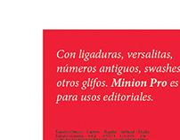 Specimen/Minion Pro