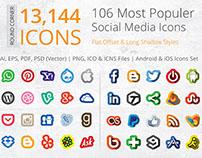212 Offset Social Media Icons