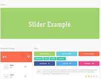 Minimal Flat HTML CSS UI Kit
