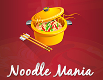 Noodle Mania  Mobile App Game Ui