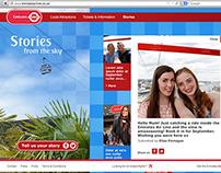 Emirates Air Line website redesign