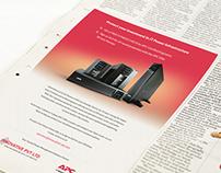 APC UPS Newspaper Ad