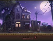 Environment design for Webgame TNT